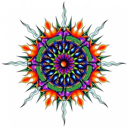 Art Deco Fire Water Mandala?