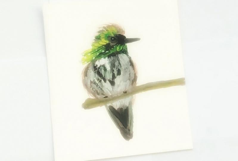 Gouache bird