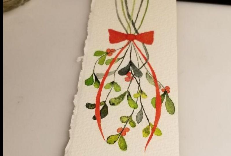 christmas bookmark