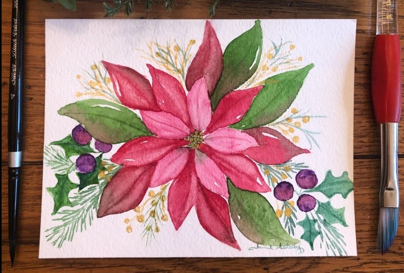 Poinsettia with Esther