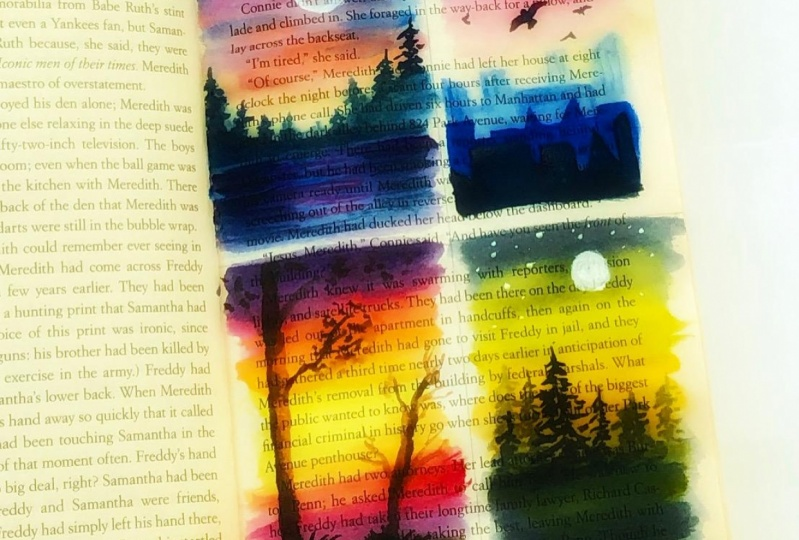 Painting on novel
