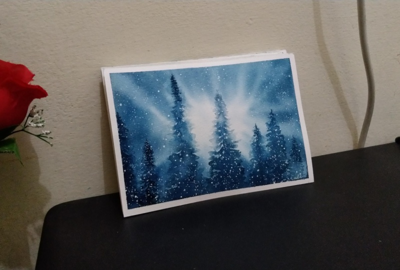 Final Projects from Backlit Snowy Pine class by Trupti