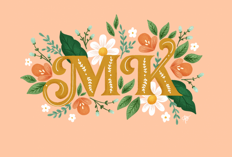 Fun with florals monogram
