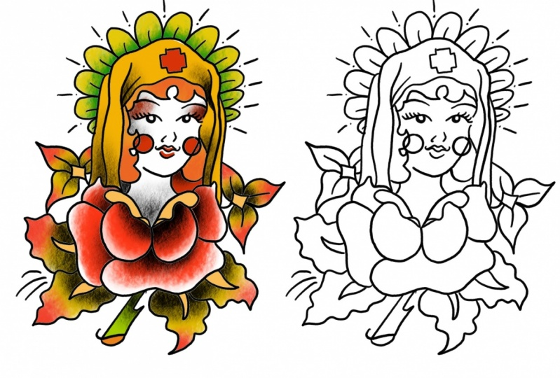 Tattoo Design Practice