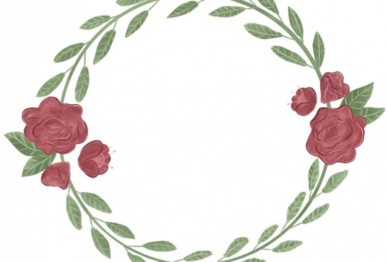 2 point wreath