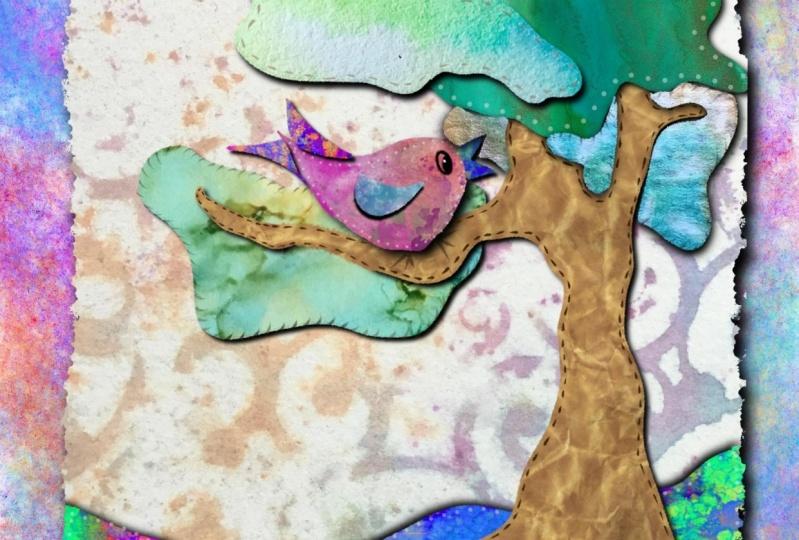 Procreate Bird collage ~ Holly Williams