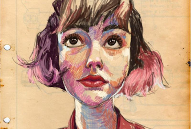 Digital sketchy portrait