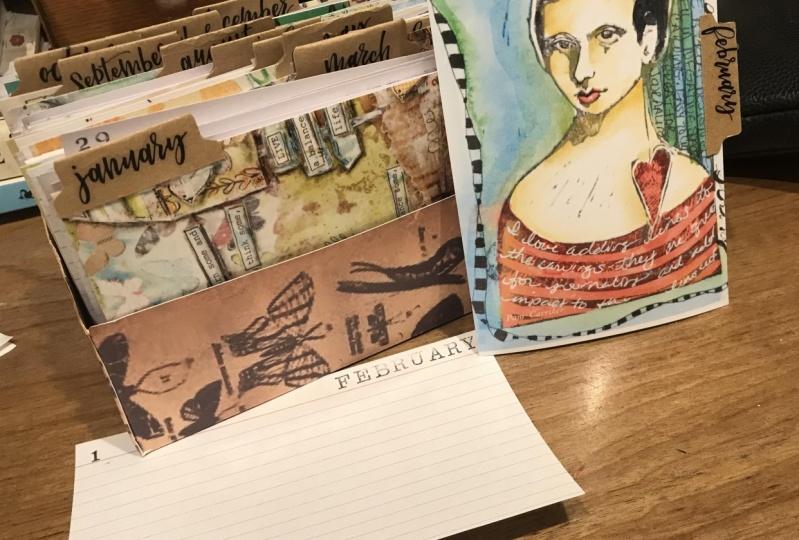 Sentence-a-Day Journal Card Box