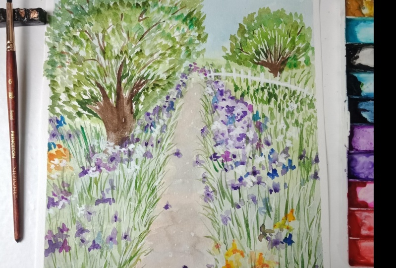 Final Project: Garden Landscape with Watercolor