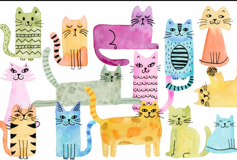 Watercolor Cats