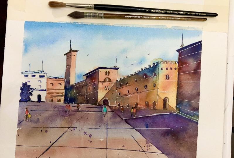 Watercolor Cityscape Project