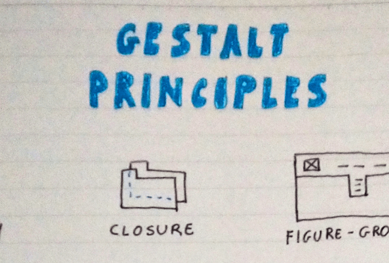 Gestalt principles for sketching cheatsheet