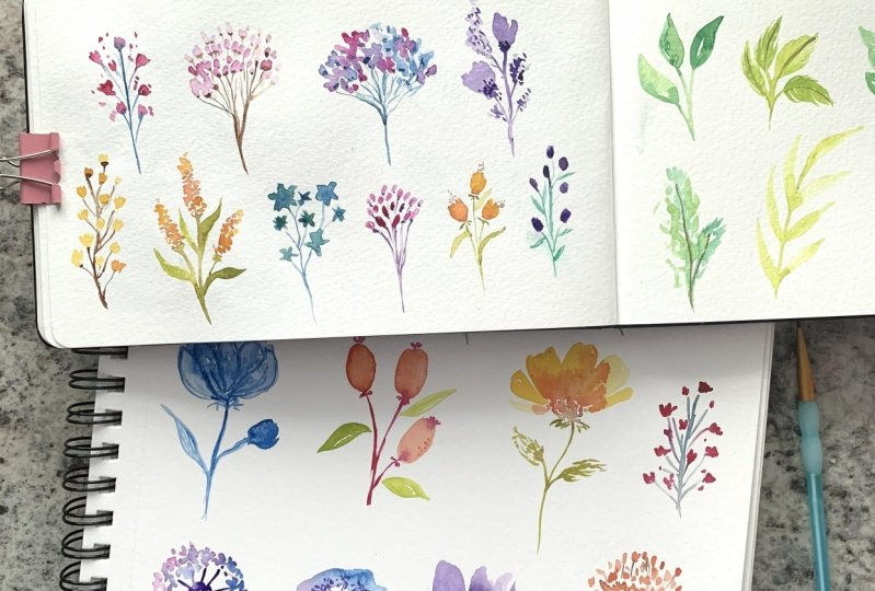 Watercolor Floral Fun!
