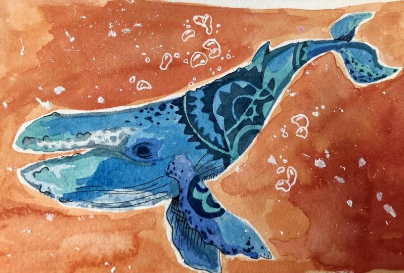 Whale Seeking Sun