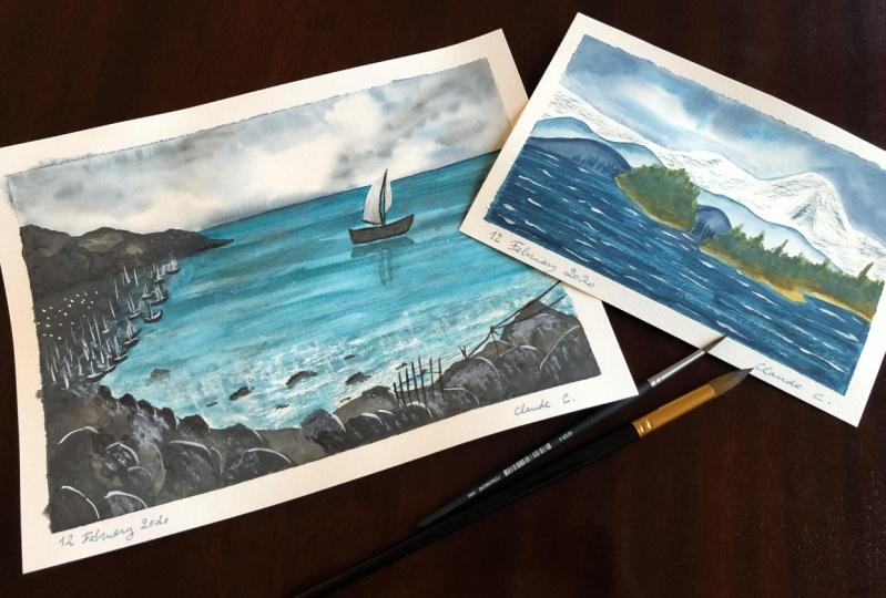Watercolor Seascapes!