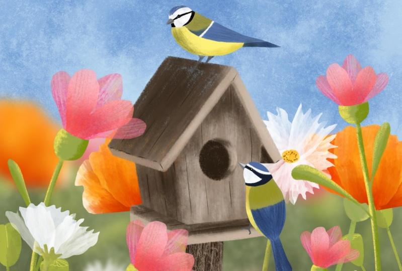 Gill's Project - Spring Illustrations
