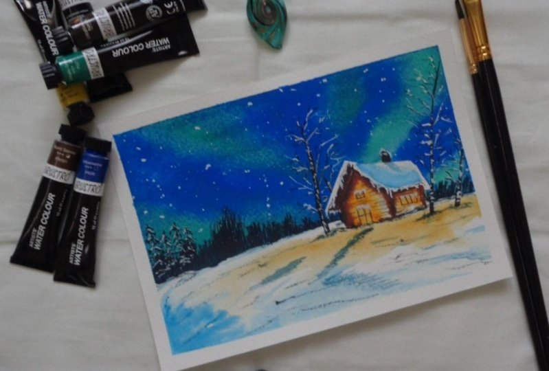 Winterscape Swedish Night