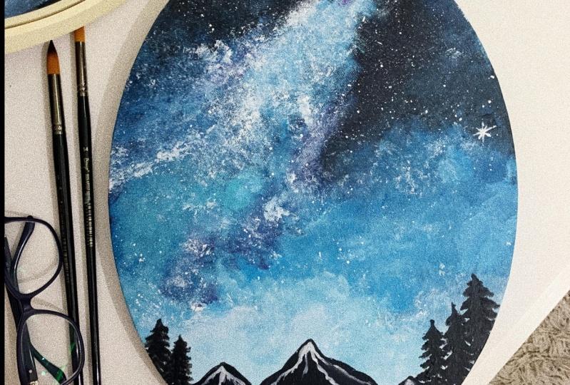 Acrylic night sky