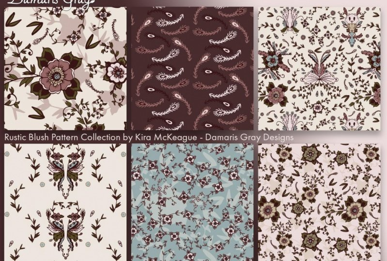 Rustic Blush Pattern Collection
