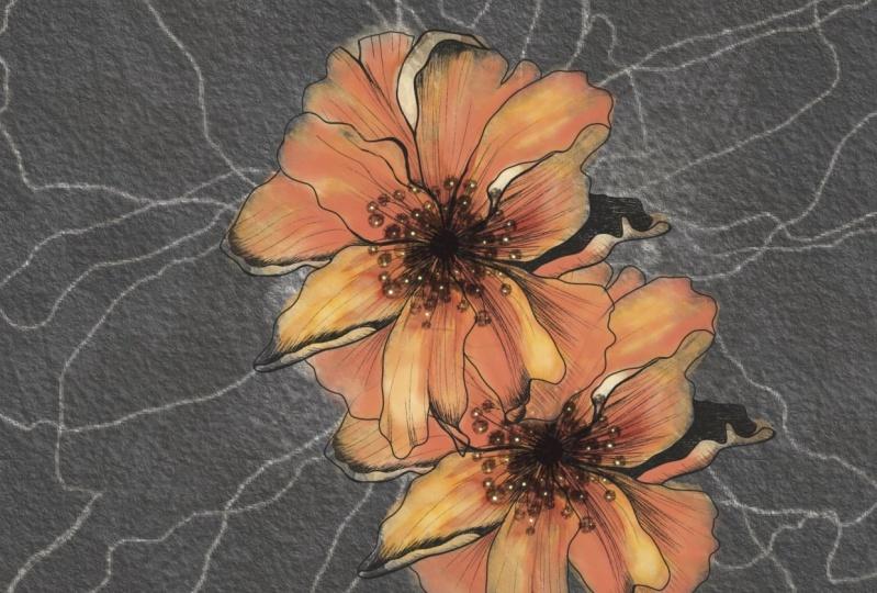 Floral stamp brush