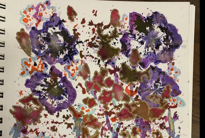 Flower painting with flowers!