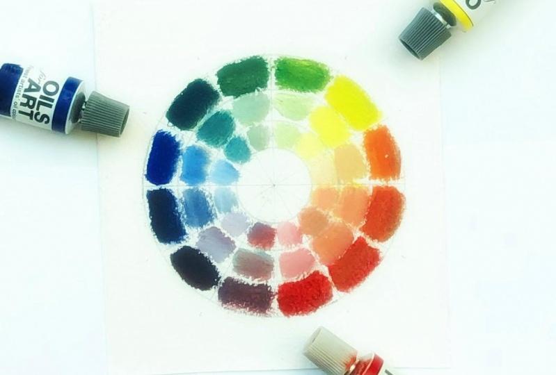 Color wheel + value scale
