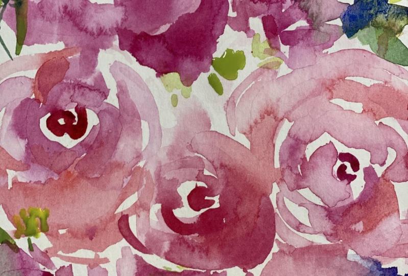 Modern Floral Sketch from Kris' Class!