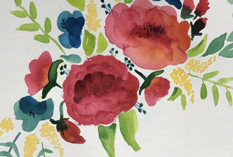 Watercolor Peonies and more