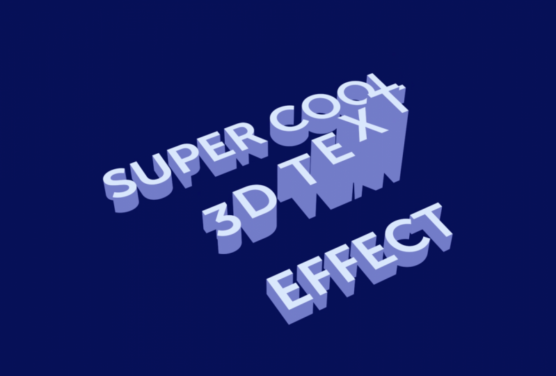 3D extruded animating text