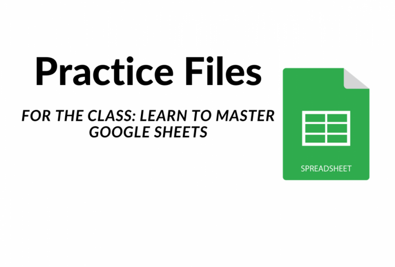Practice Files for the Class