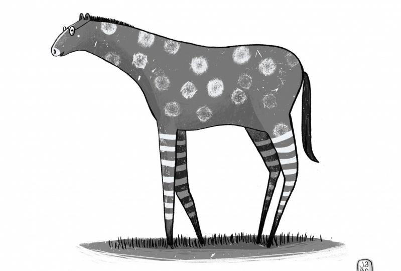 Melvin the tall horse who likes reading