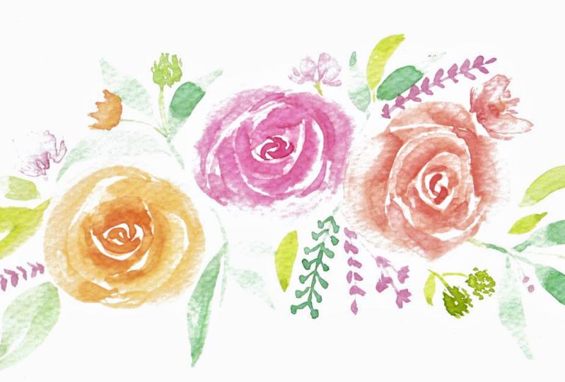 Watercolors Floral Bouquet