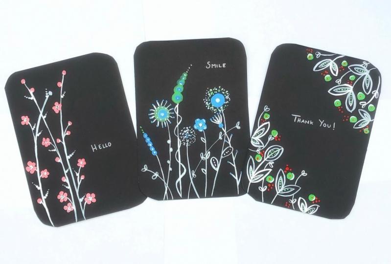 Three little postcards