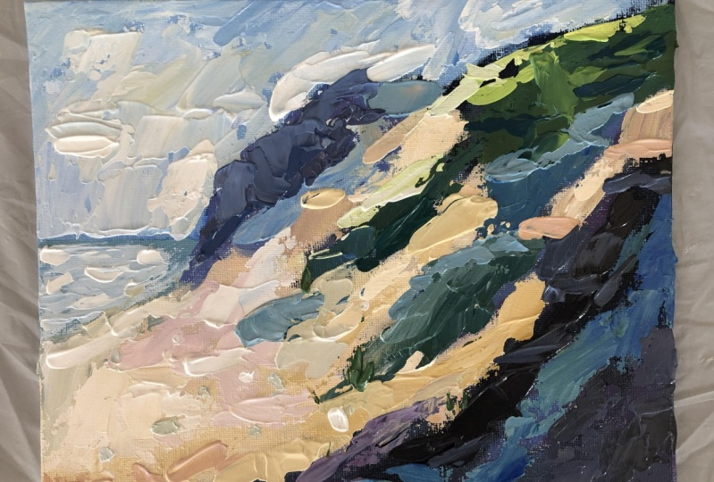 Dunes with Painting Knife