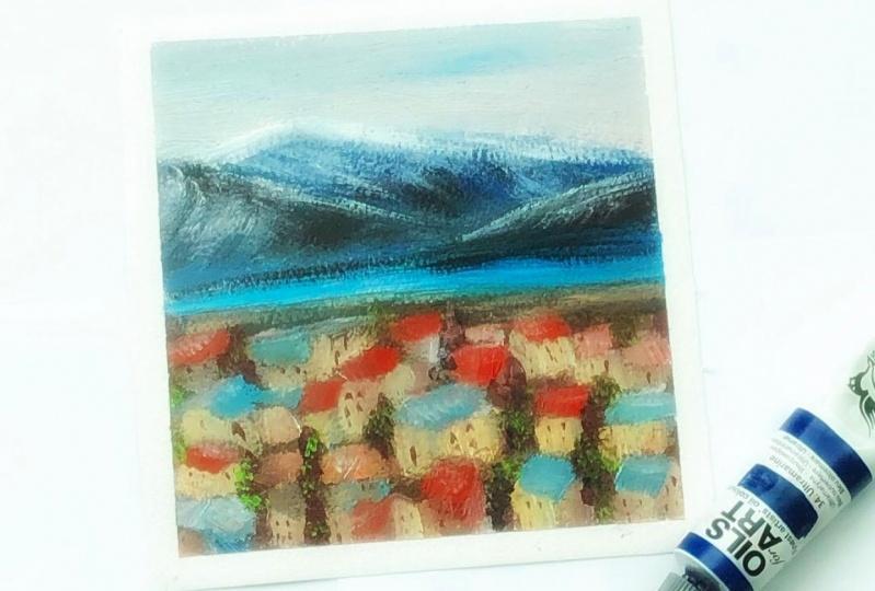 Impressionist landscape-simplification