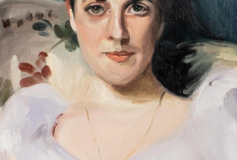 Portrait painting using the Zorn Palette