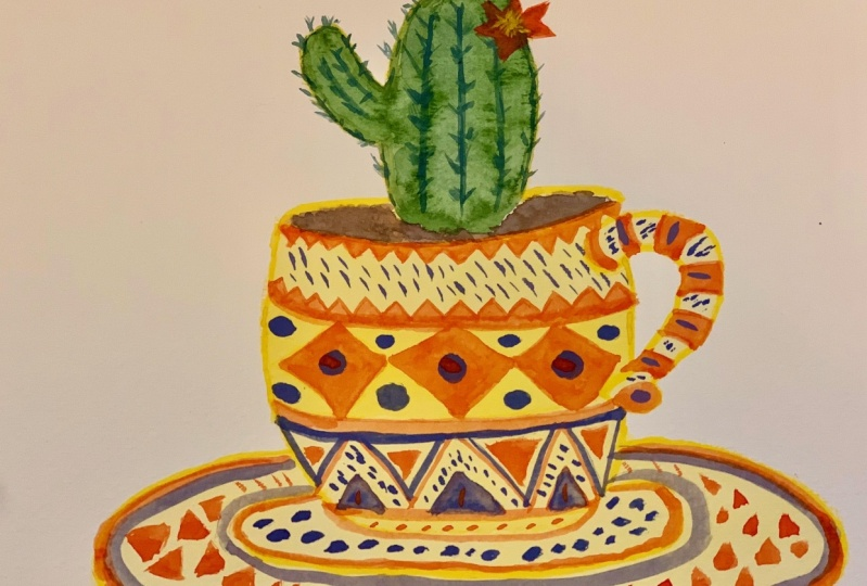 Layering Watercolor and Gouache = FUN!