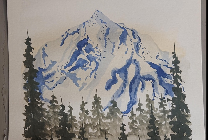 Mountain Watercolor
