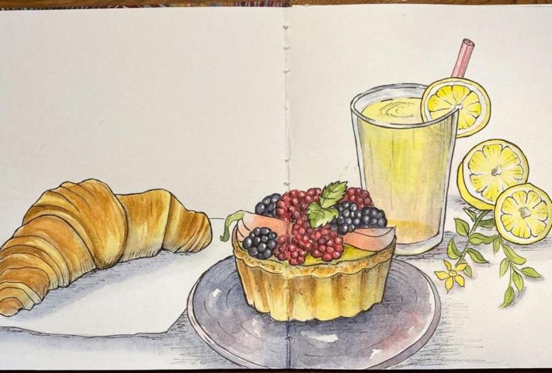 Cafe Sketching with Asya Alexandrova