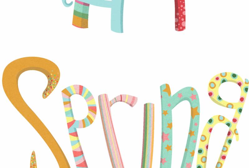 Lettering test 1 - Hi Spring