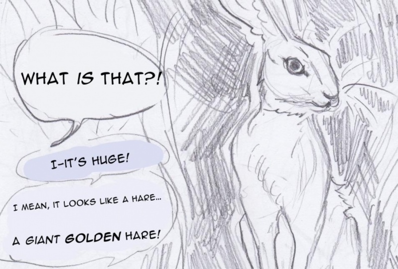 The Golden Hare - Rough Sketches