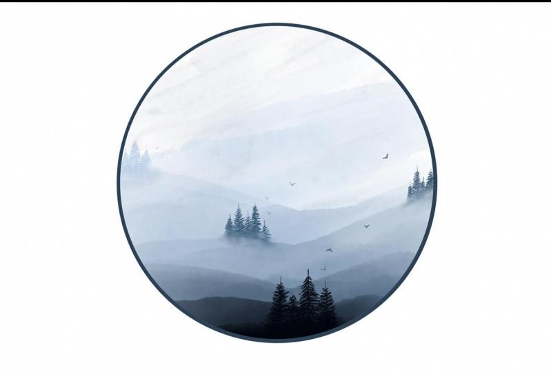 Misty Forest in Adobe Fresco