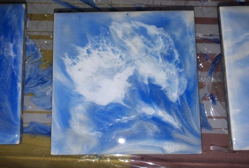 Tile Coasters - 1st Attempt