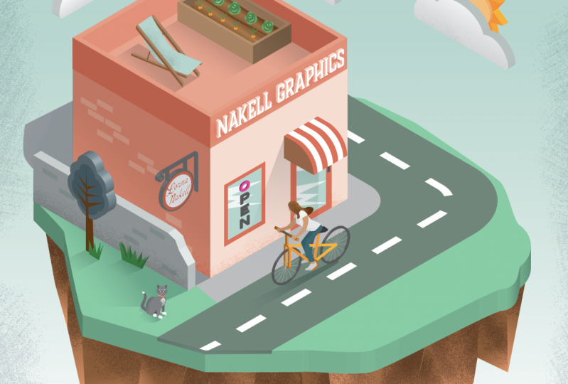Nakell Isometric shop and buildings