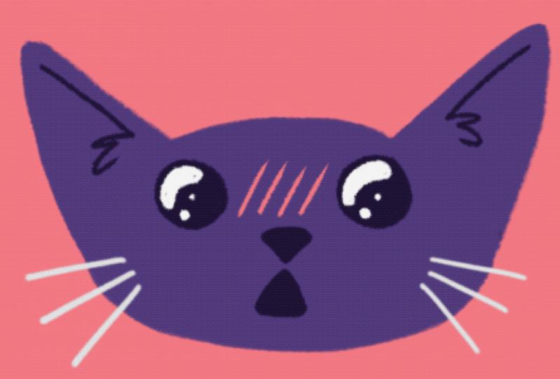 Cat Sticker GIFs in Procreate