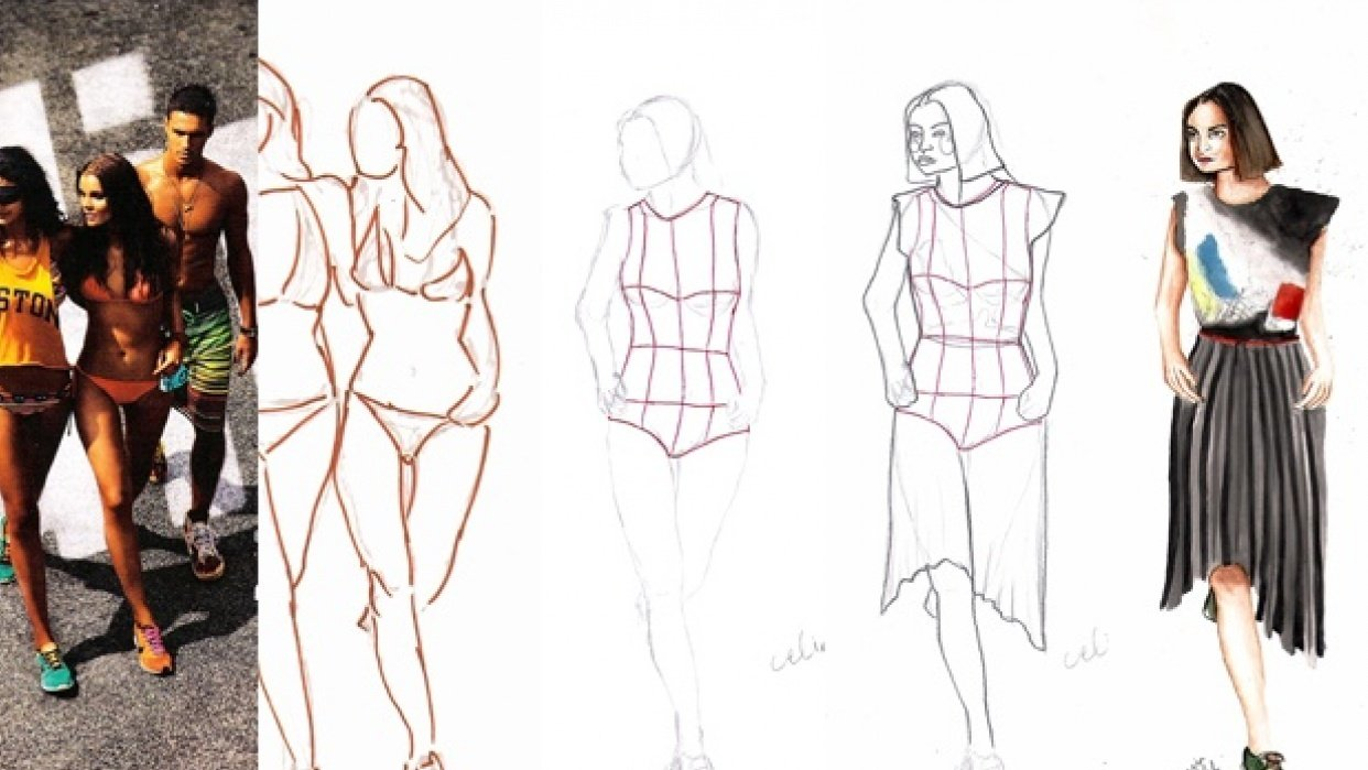 Fashion Drawing Techniques For Sketching Garments Danny