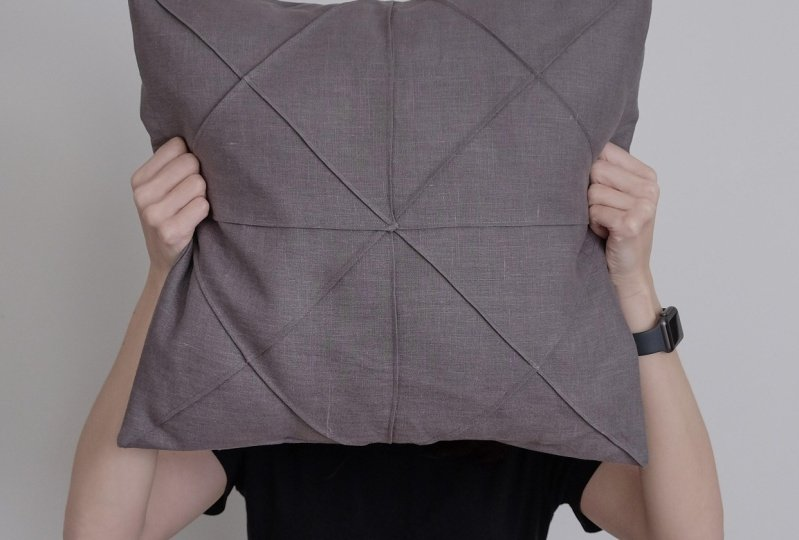 Finished Origami Cushion