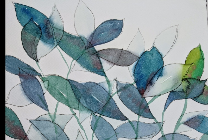 Botanical Watercolor with Ink