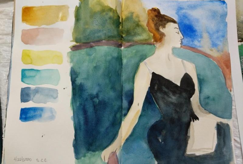 John Singer Sargent Color Study