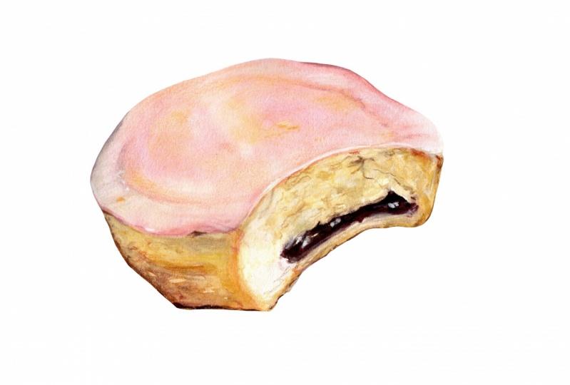 Cake with pink glazing